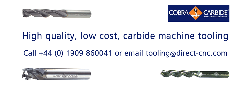 Direct CNC are the UK distributors for Cobra Carbide tooling